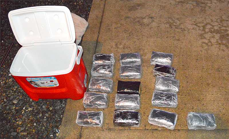 by: SUBMITTED PHOTO - The Clackamas County Interagency Task Force seized 21 pounds of meth during a traffic stop Wednesday.