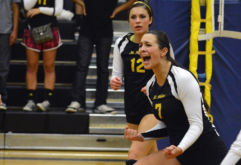 by: JOHN WILLIAM HOWARD - Gabby Susee (7) doesn't get wound up often during a match, but Thursday evening was different. 'We got some fire in us,' she said.