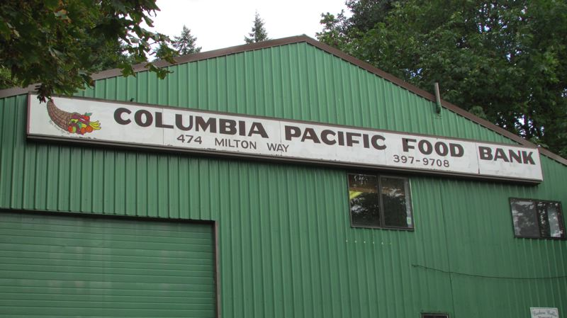 by: MARK MILLER - The Columbia Pacific Food Bank headquarters in St. Helens. Board President Ken Gates said the nonprofit organization, which serves all of Columbia County, is looking for a new facility.