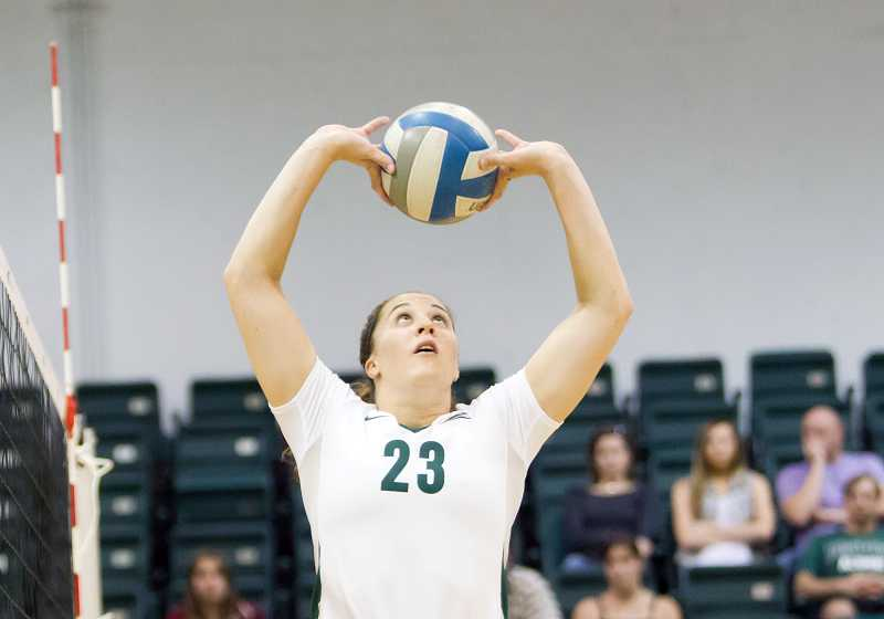 by: LARRY LAWSON / PSU ATHLETICS - Portland State senior Garyn Schlatter (shown) will face off against her sister, Montana State junior Kasey Schlatter, in a Big Sky Conference match Sept. 28.