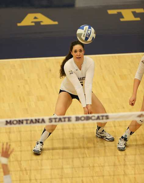 by: MSU ATHLETICS - Kasey Schlatter (shown), a defensive specialist for Montana State, has never defeated her sister in their four previous meetings at the collegiate level.