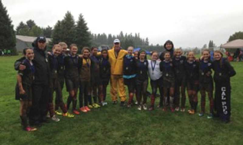 by: SUBMITTED PHOTO - Wilsonville won the U-14 gold division of the Willamette United Soccer Clubs area tournament Sept. 28-29 in West Linn.