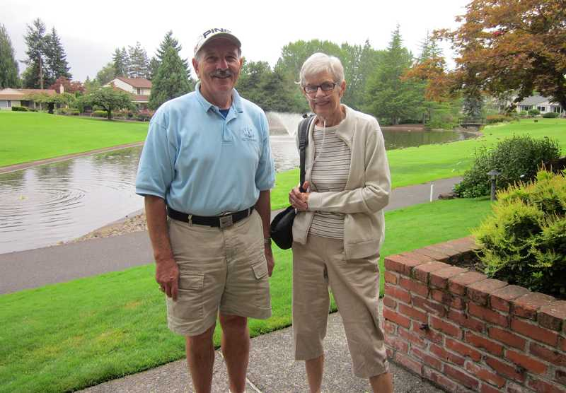 by: BARBARA SHERMAN - LUCKY NUMBER NINE - Ken Rose and Sandy Pheister recently got holes in one on the Summerfield Golf Course No. 9, with Rose getting a second one on No. 7.