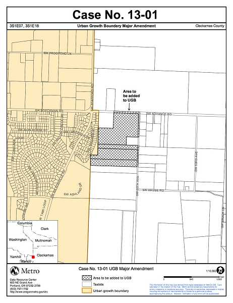 by: SUBMITTED PHOTO: METRO - A decision is expected as early as Oct. 10 regarding the addition of a 40-acre parcel of land to Metros urban growth boundary.