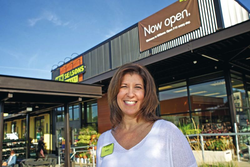 by: TRIBUNE PHOTO: JAIME VALDEZ - New Seasons President Wendy Collie can show off a number of ways in which the North Williams store has tried to accommodate the neighborhoods long-time residents, but she cant control property values.