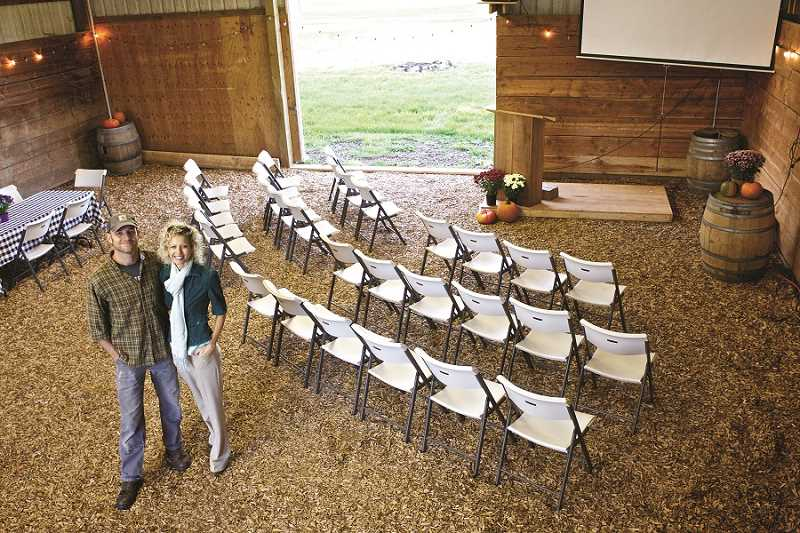 by: TIMES PHOTO: JAIME VALDEZ - Trevor and Vicki Norris host events at their barn in Sherwood, where they run Restoring Order.