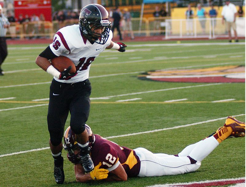 by: DAN BROOD - CATCHING ON -- Tualatin senior receiver Nick Hines has 31 receptions on the season.
