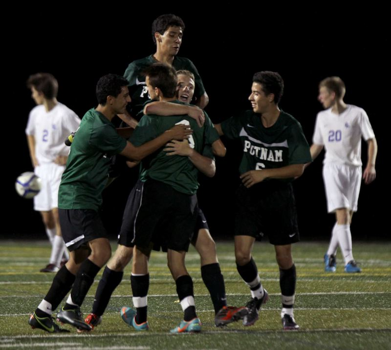 by: JON HOUSE - The Rex Putnam Kingsmen celebrated hard in mid-September after sophomore Tommy Ciobanasiu put the lone goal in the net in a 1-0 win over 2012 Class 4A state finalist La Salle. The Kingsmen were in form again last Thursday, when they won a league game at Sherwood, 4-3 in overtime.