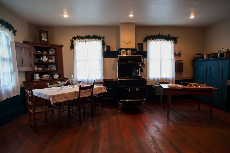 by: SPOKESMAN PHOTO: JOSH KULLA - The more elaborate Kraus house boasted a higher-than-average standard of living than most were used to in the 19th century.