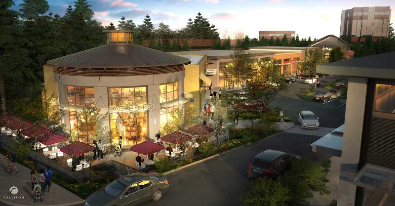 by: SUBMITTED - Located at the corners of Kruse Way, Meadows Drive and Carman Drive in Lake Oswego, the planned Kruse Village retail center has at least eight tenants signed so far, according to Gramor Development.