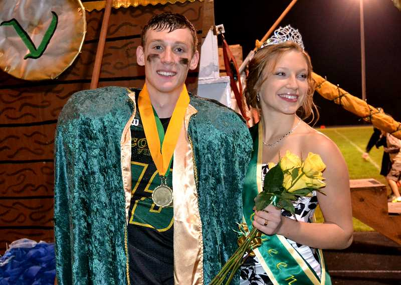 by: CINDY FAMA - CHS Homecoming King Rehydn Stanzyk and Anjuli Knight.