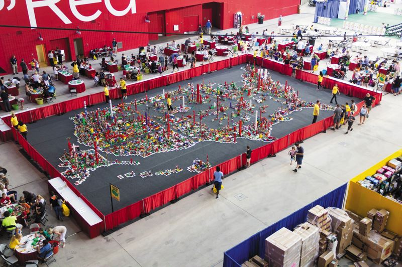 by: PHOTOS COURTESY OF LEGO - The Lego KidsFest, which comes to Portland Oct. 10 to 13, brings about 10 tractors full of Legos and accessories and thrill kids and parents alike.