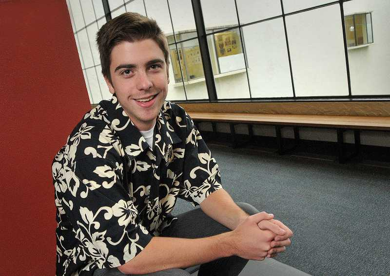 by: REVIEW PHOTO: VERN UYETAKE - Lakeridge junior Jonathan Grace spearheaded a video project for a Katy Perry contest.