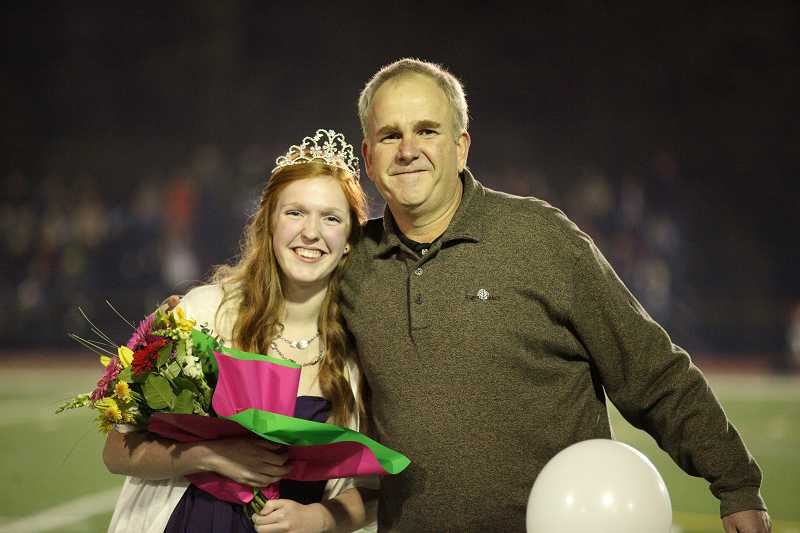 by: SUBMITTED PHOTO: MITCHELL BERNARDS - Haley Jensen is Lake Oswego Highs homecoming queen.
