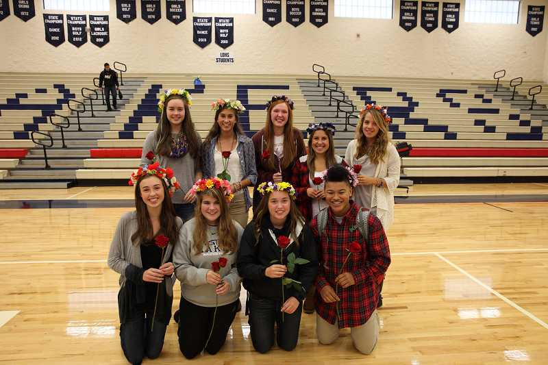 by: SUBMITTED PHOTO: MITCHELL BERNARDS - This years LOHS homecoming court princesses are, back row, from left: Heather Pippus, Christina Miller, Haley Jensen, Christina Rumpakis and Caroline Dorman; and, front row, from left: Hayley Sims, Carrie Czarnecki, Mary Jane Anderson and Morgan McKinney.