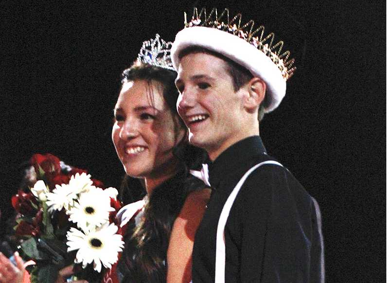 by: BILLY GATES - Seniors Amanda Olivera and Ian Oppenlander were named the Madras High School Homecoming king and queen on Sept. 27 during halftime of the Madras vs. North Marion football game at Culver High School.