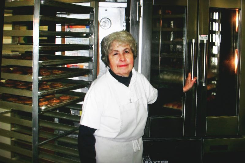 by: OUTLOOK PHOTO: JIM CLARK - For 36 years, Olson worked as a cook in Gresham schools. She made popular cinnamon rolls and wiener wraps.