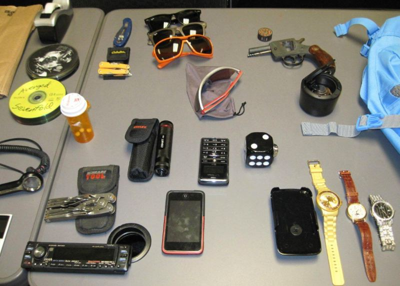 by: WASHINGTON COUNTY SHERIFF'S OFFICE - Pictures of the various items stolen in a series of vehicle ransackings in the Oak Hills neighborhood on Saturday are available on the Washington County Sheriff's Office website, WCSheriff-OR.com.