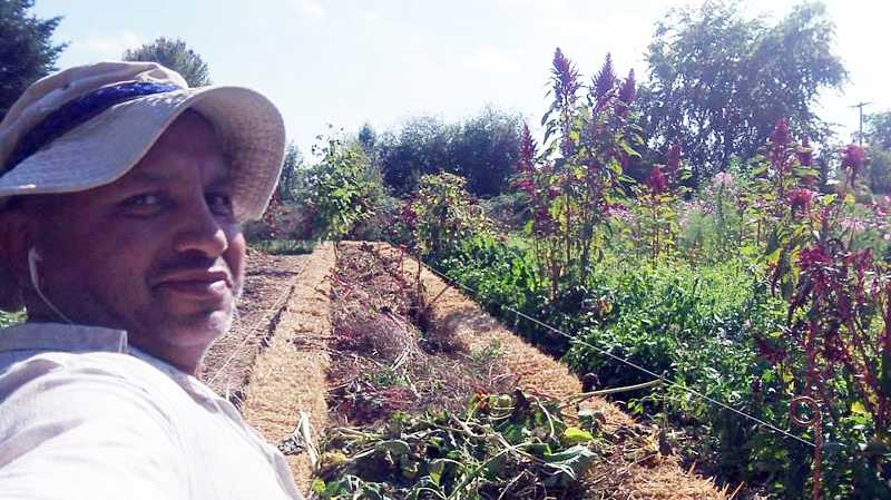 by: COURTESY PHOTO - Miguel Cervantes served as caretaker for the two-acre B-Street Permaculture Project for the past five years, until he was fired Sept. 16.