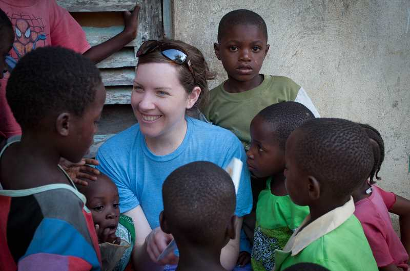 by: SUBMITTED - Megan Wilcken is where she wants to be: right in the middle of Kenyan children eager to improve their education.