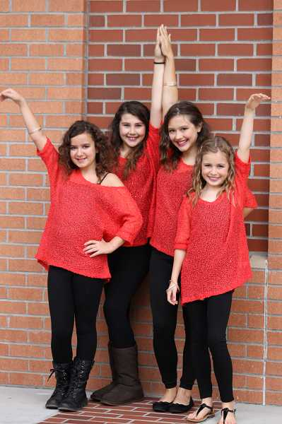 by: SUBMITTED PHOTO - From left, Rebecca Hartner, Alexa Cook, Alex Burkeen and Molly Young are among the young performers who will take the stage for the 10th annual Athey Idol competition Oct. 25.