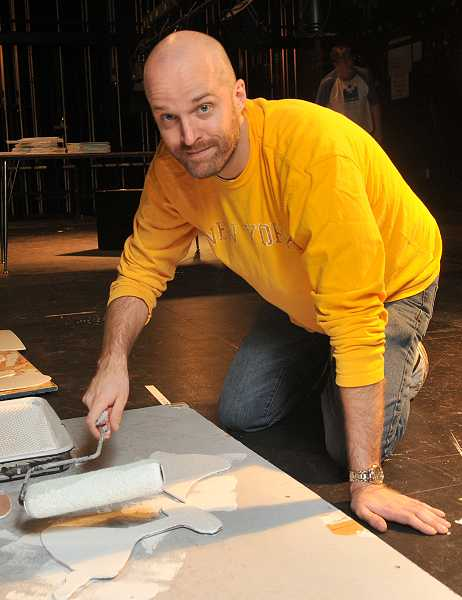 by: REVIEW PHOTO: VERN UYETAKE - Andy Ballnik is Lakeridge Highs new theater director.