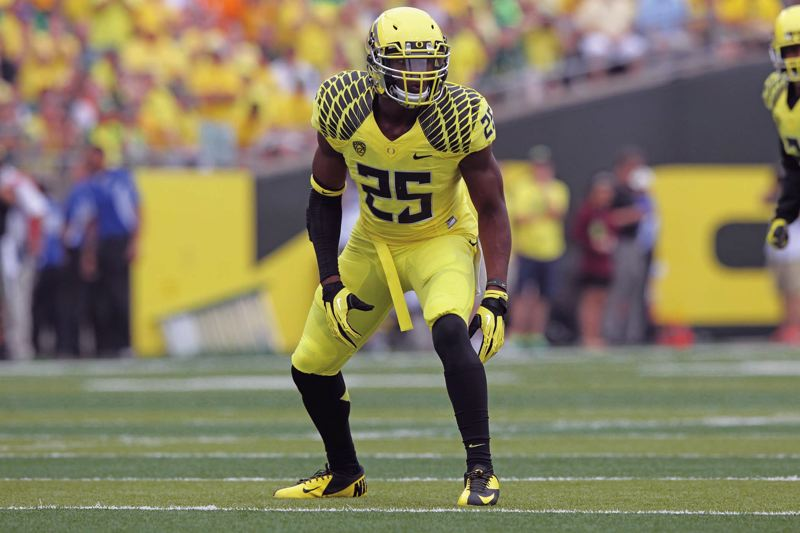 by: COURTESY OF UNIVERSITY OF OREGON  - Boseko Lokombo was the only returning mainstay in Oregons linebacker corps going into the 2013 season, but the unit has been solid during the Ducks 6-0 start.