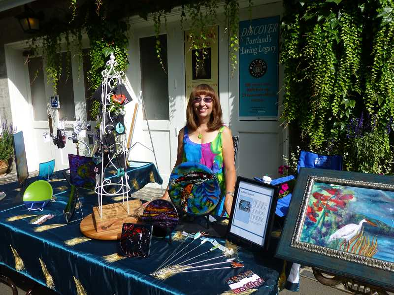 by: SUBMITTED PHOTO - Lynn  Pass is selling some of her artwork through the museum shop at Pittock Mansion.