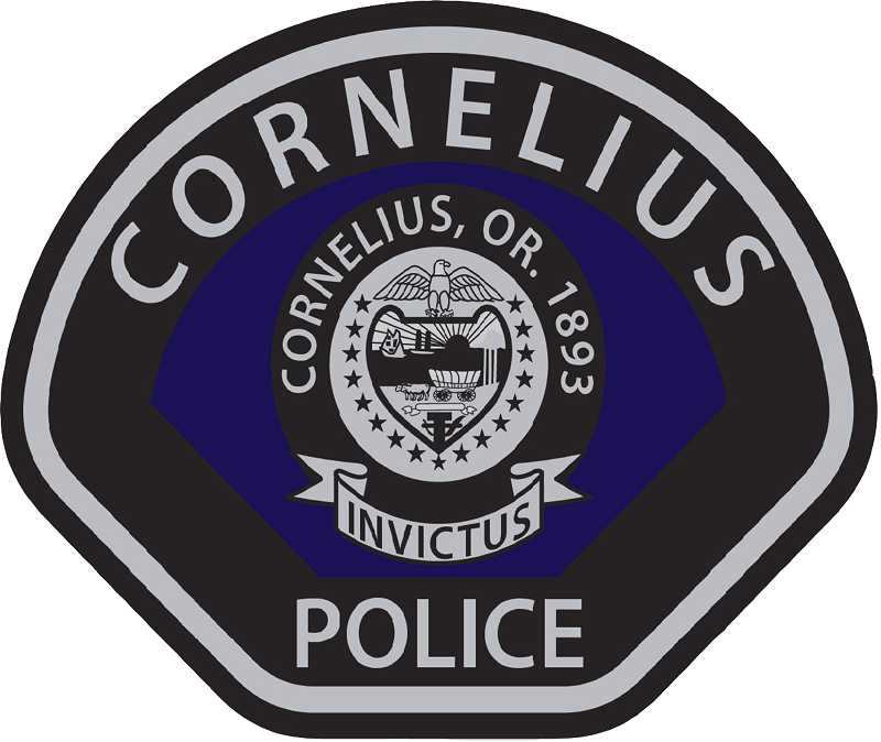 by: COURTESY PHOTOS - Cornelius officers will sport a new badge representative of their committment to the city and its citizens even after a rough year.