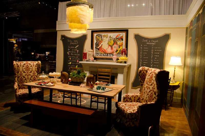 by: SUBMITTED PHOTOS: TREVOR MILLER - Barbara Millers Serving Up Style exhibit won the peoples choice award at the Fall Home and Garden Show held recently in Portland.