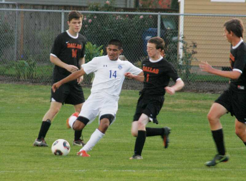 by: PHIL HAWKINS - Anthony Santillan scored three goals in Woodburns 17-0 victory over Dallas on Oct. 15.