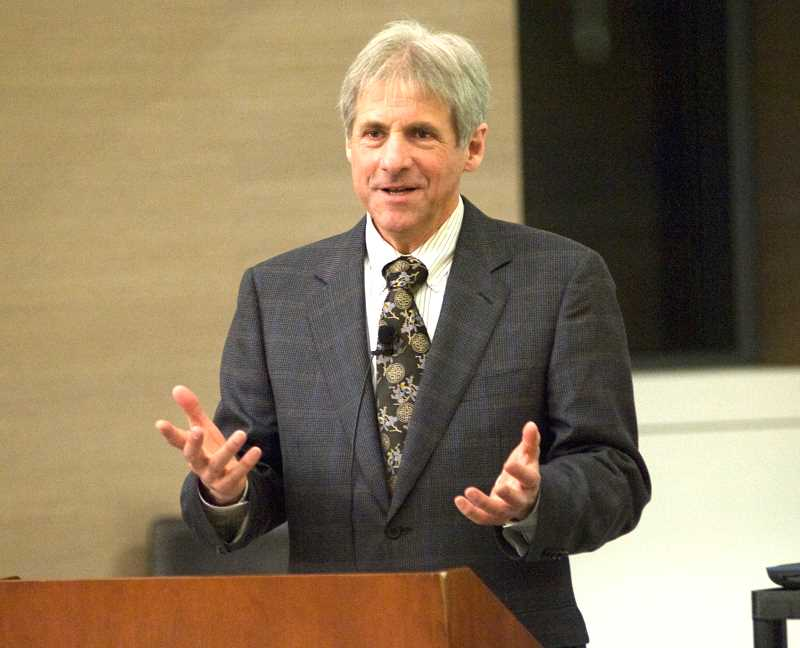 by: SUBMITTED - John Teton has taken his case for the International Food Security Treaty to many places, including Yale University, as shown here. Now he is taking his case to the general public.