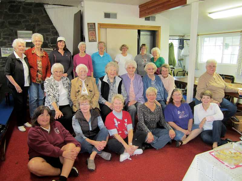 by: RUTH DESANTIS - The Woodburn Womens Golf Clubs Ageless Tournament participants.