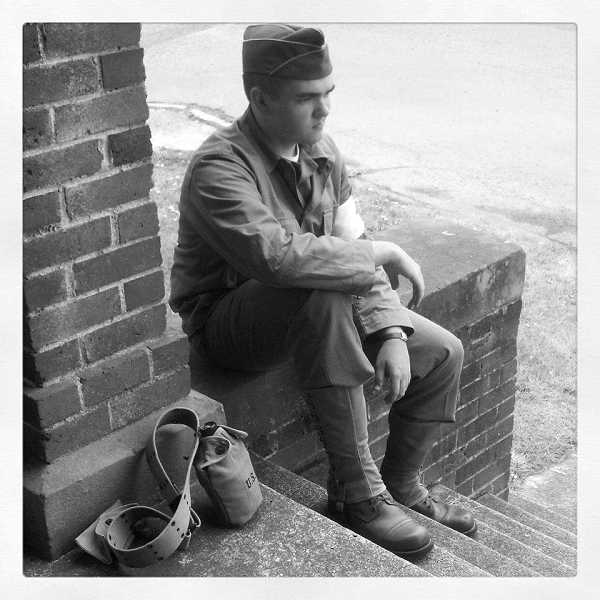 by: SUBMITTED PHOTO - Cole Bateman recently has started participating in a World War II re-enactment group.