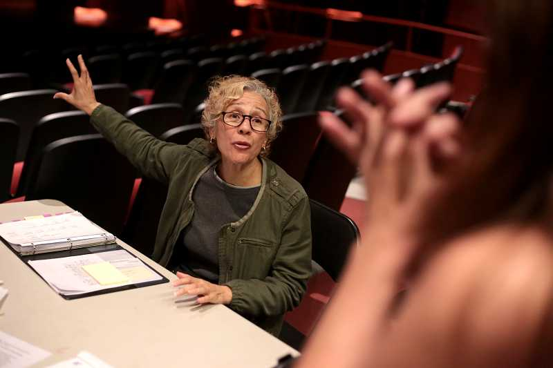 by: TIMES PHOTO: JONATHAN HOUSE - Demetra Pittman, a 23-year veteran of the Oregon Shakespeare Festival is guest directing ACMA's performance of 'Our Town.'