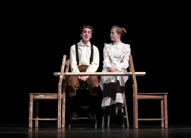 by: TIMES PHOTO: JONATHAN HOUSE - George and Emily are played by alternates Morgan Fay and Kelly Schenk in ACMA's 'Our Town.'