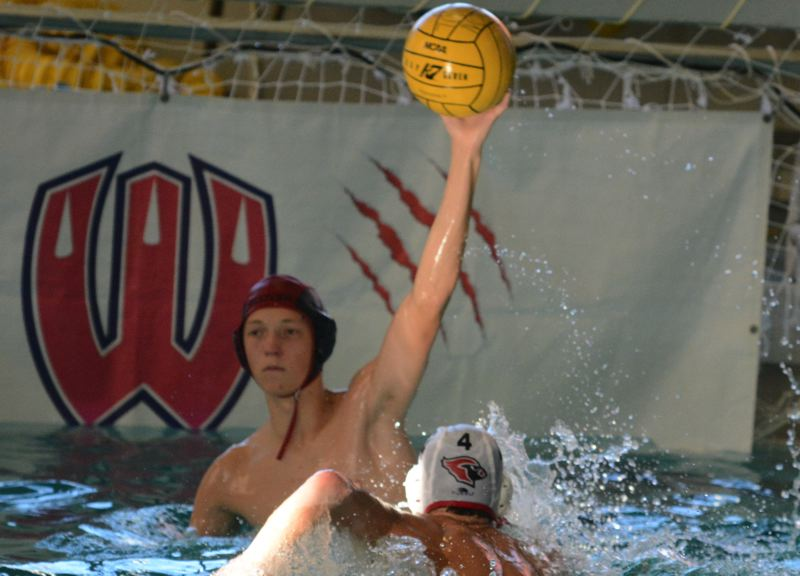 by: TIMES PHOTO: MATT SINGLEDECKER - Westview goalie Mark Finkelnburg saved three shots in the fourth quarter against Lincoln to help the Wildcats beat the Cardinals, 6-3.