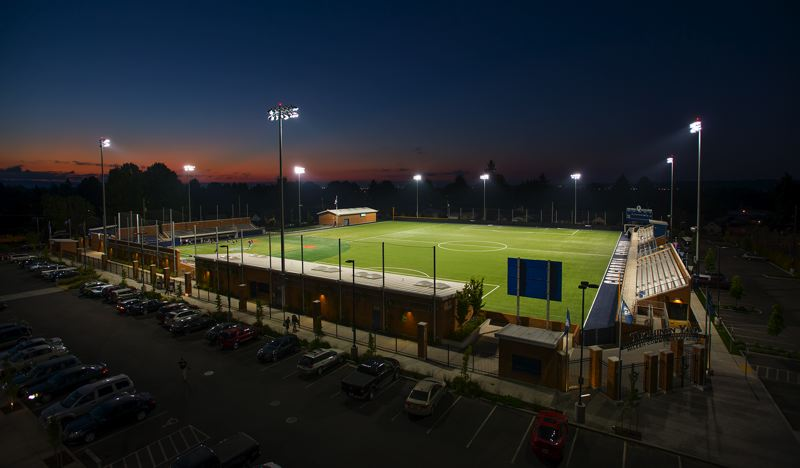 by: COURTESY OF CONCORDIA UNIVERSITY - Hilken Community Stadium, which opened in late 2011, is the home of Concordia Cavaliers soccer and baseball, as well as other university and community sports and activities.