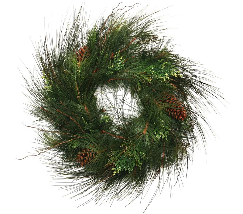 by: OUTLOOK FILE PHOTO - Several hrvest bazaars offer fresh greenery or pre-made wreaths ready for holiday decorating.