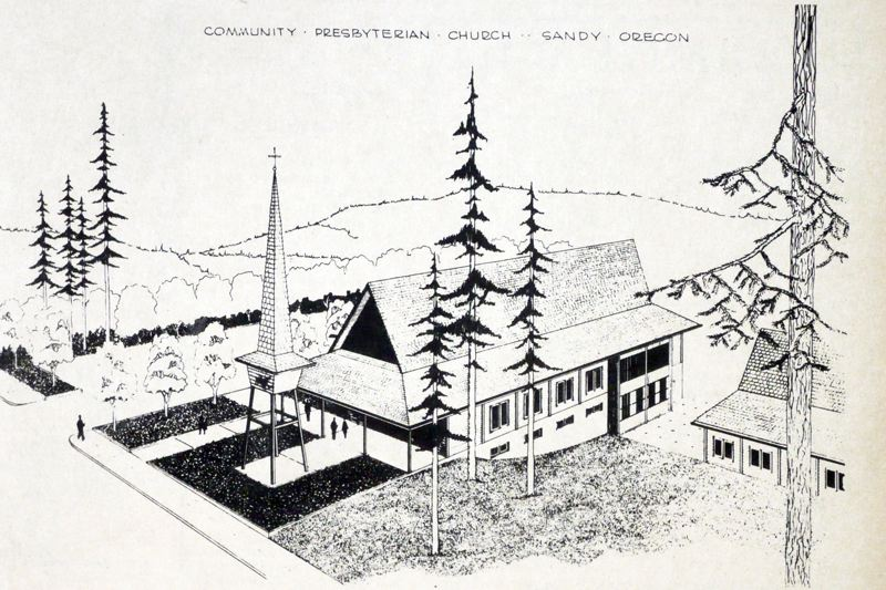 by: POST ARCHIVE PHOTO - An architectural rendering showed plans for the soon-to-be built Community Presbyterian Church in Sandy.