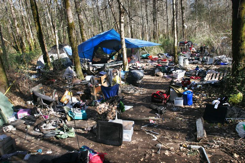 by: OUTLOOK PHOTO: JIM CLARK - A transient campsite in the middle of Thousand Acres.