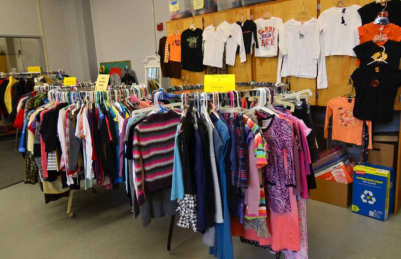 by: PAMPLIN MEDIA GROUP: VERN UYETAKE - The Clackamas County Clothes Closet makes clean, gently used clothing available at no costs to children in need throughout the county.