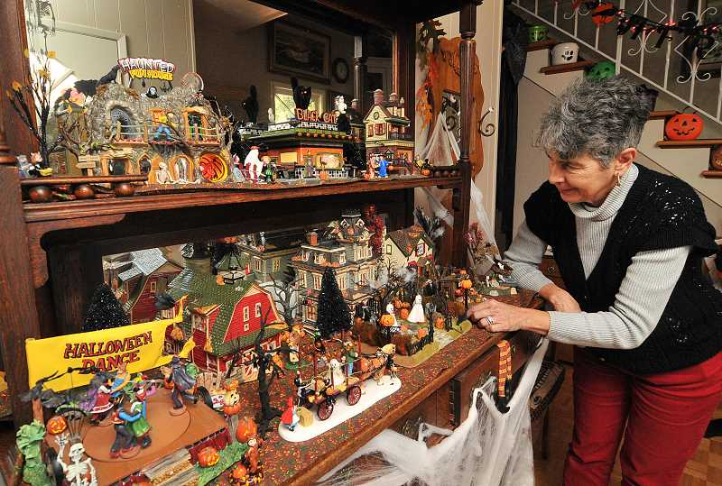 by: VERN UYETAKE - After many years decking out her home with Halloween decor, Suzanne Price says shes maxed out her collection.