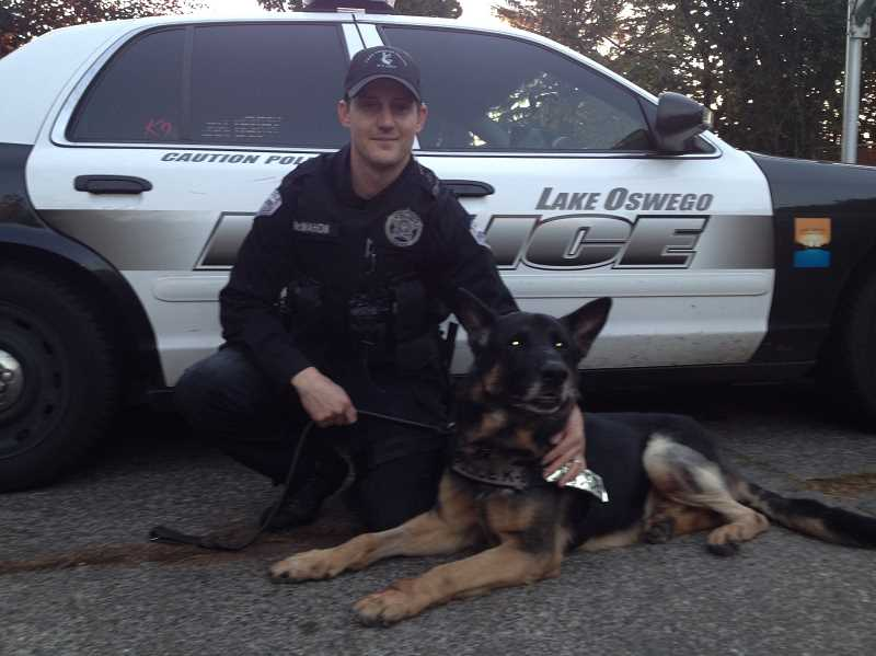 Officer Bryan McMahon and Kai