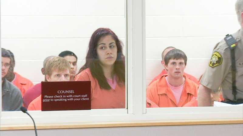 by: COURTESY PHOTO: KOIN NEWS - Cinthya Garcia appears in an orange jail jumpsuit behind glass for her arraignment on a hit and run charge. Her tearful cousin, Beatriz Vidal, wishes people knew all the good things Cinthya has done. I wish I could be on TV so I could tell everyone what she is like because everyone thinks she is a bad person, she said.