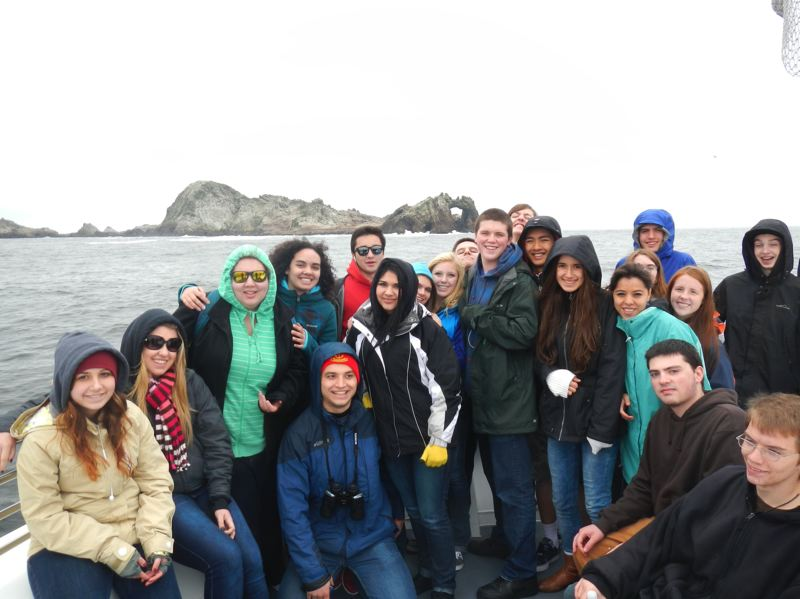 by: CONTRIBUTED PHOTO: ANDY WEX - Forty students and four adults ventured to San Francisco Oct. 10-13 with Sandy High's oceanic science teacher, Andy Wex. The group spotted 22 whales the first day of their trip, boating through Farallon National Marine Preserve.