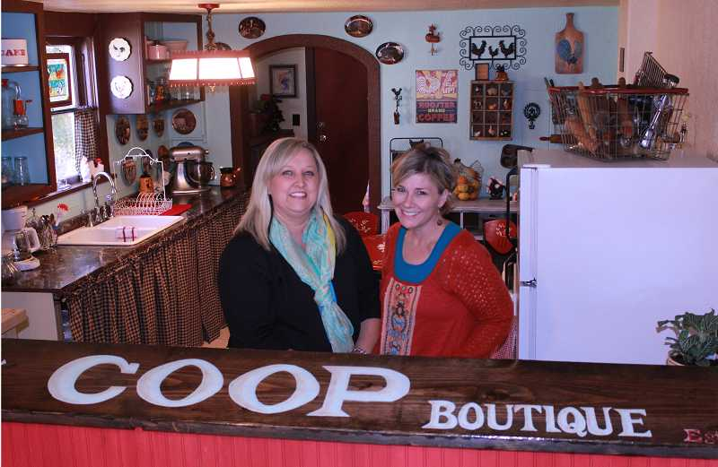 Nanette Woolworth, left, and Carrie Abbe are ready to greet customers at their new downtown boutique.