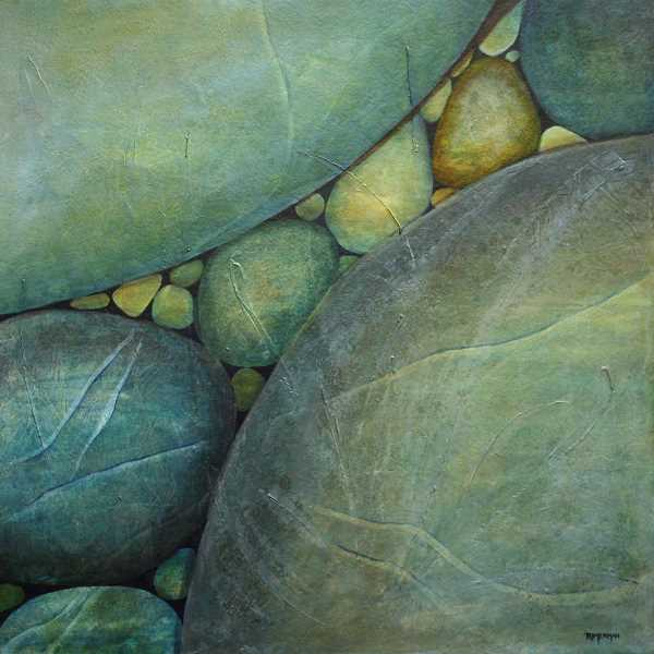 by: SUBMITTED PHOTO - Jan Rimermans art, including this piece, River Rocks Travel, will be on exhibit at Sitka Invitational Nov. 2 and 3 at the World Forestry Center.