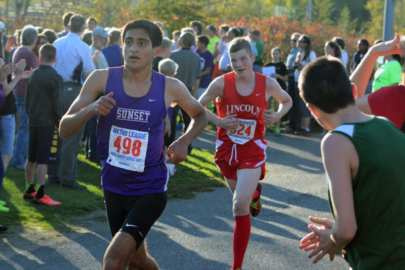 by: TIMES PHOTO: MATT SINGLEDECKER - Sunset junior Maneet Kharia qualified for the 6A State Championships by running a 16:10 at the Metro League Championship meet, good enough for seventh.