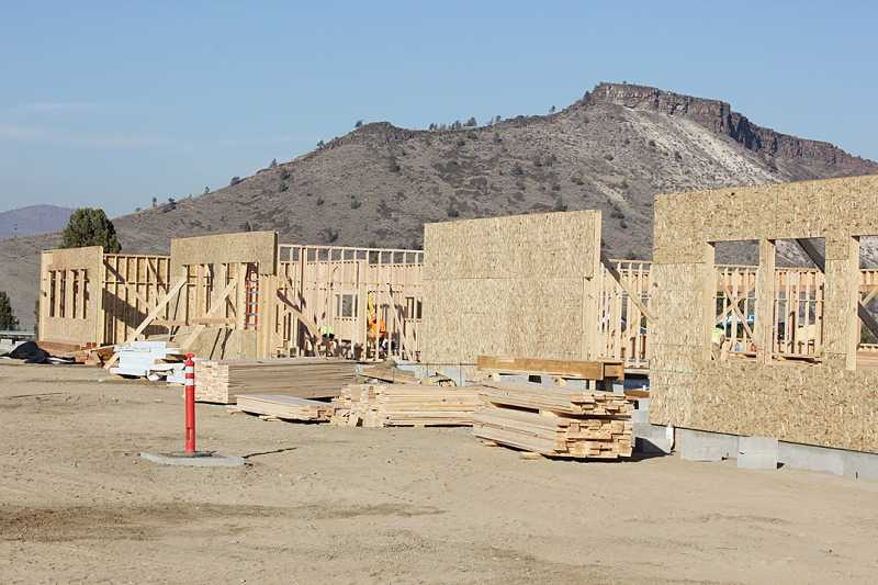 by: SUSAN MATHENY - Walls are going up at the new Warm Springs K-8 school, where a tour is planned for Friday, Nov. 8, from 11 a.m. to 1 p.m., with a chili feed.